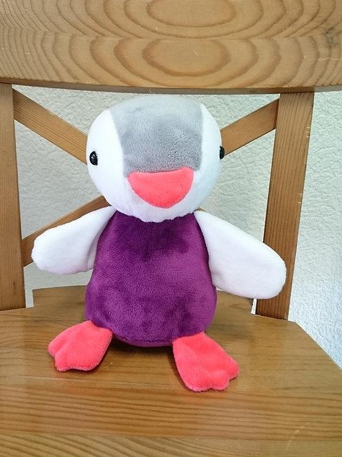 Pingouin bébé - cassis-gris