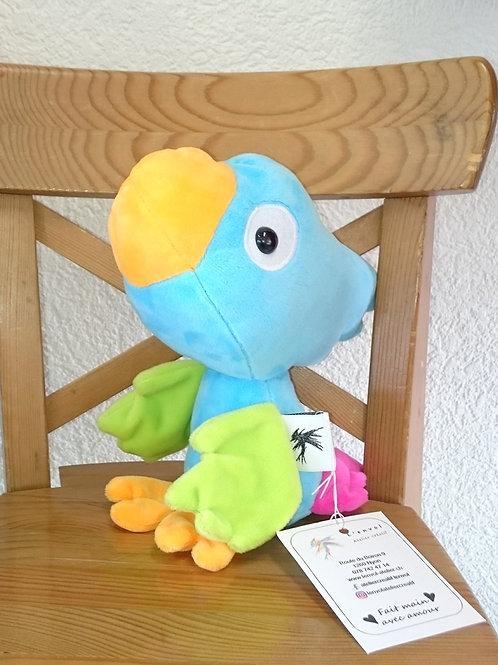 Perroquet bébé - turquoise - ailes anis