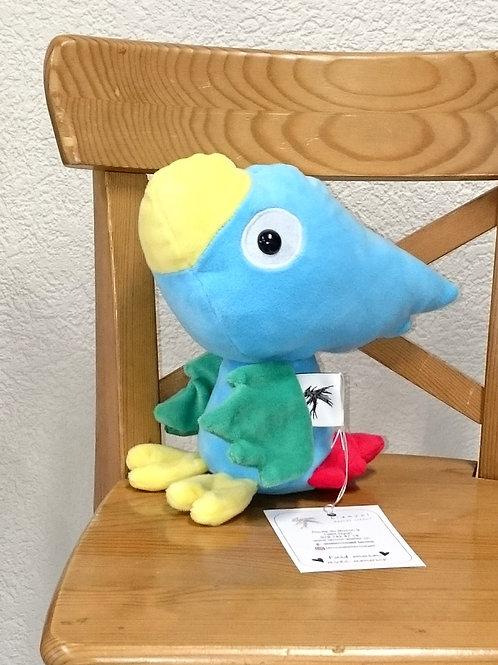 Perroquet bébé - turquoise - ailes vertes