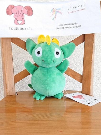 Dragon bébé - vert et jaune