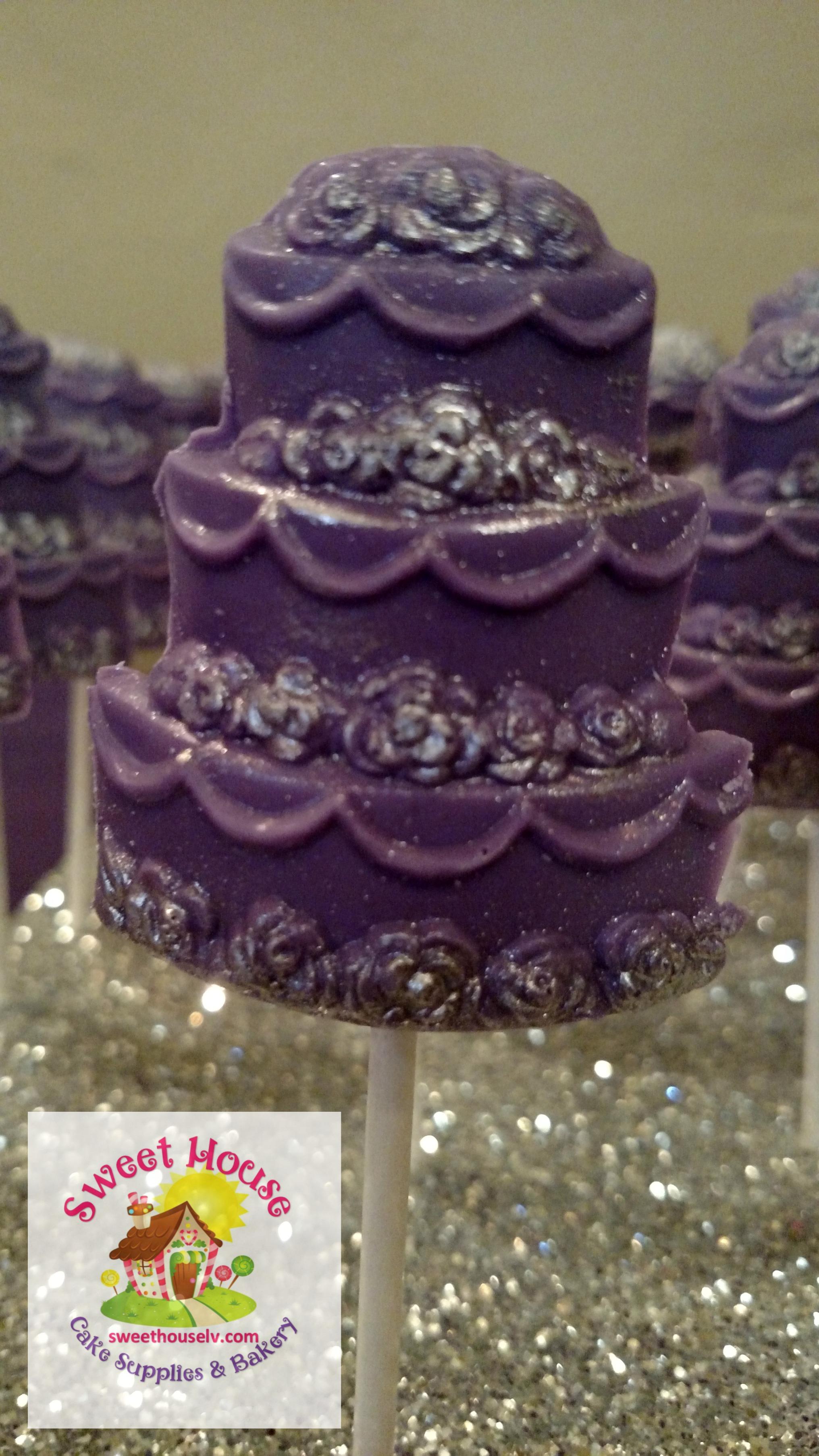 Chocolate Wedding Cake Sucker