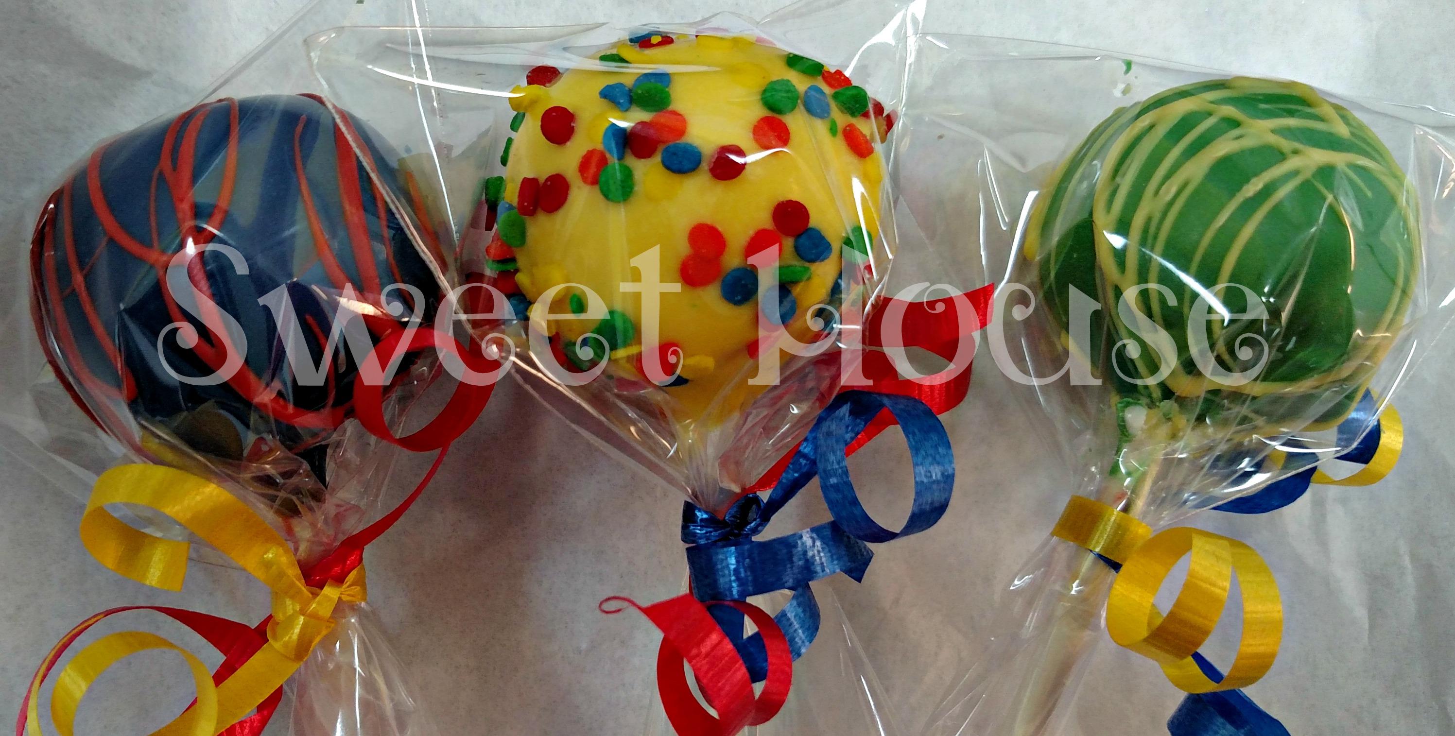 Primary color cake pops