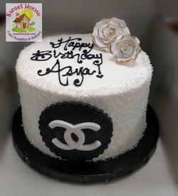Black & White Chanel Cake