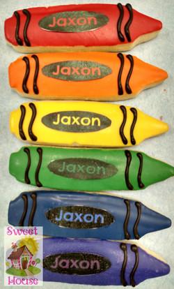 Crayon cookie favors