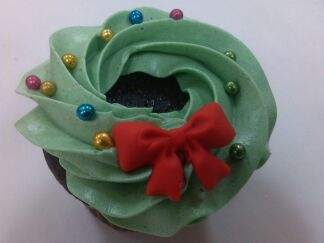 Holiday Wreath Cupcake