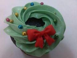 Holiday Wreath Cupcake