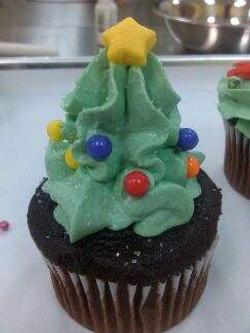 Xmas Tree Cupcake