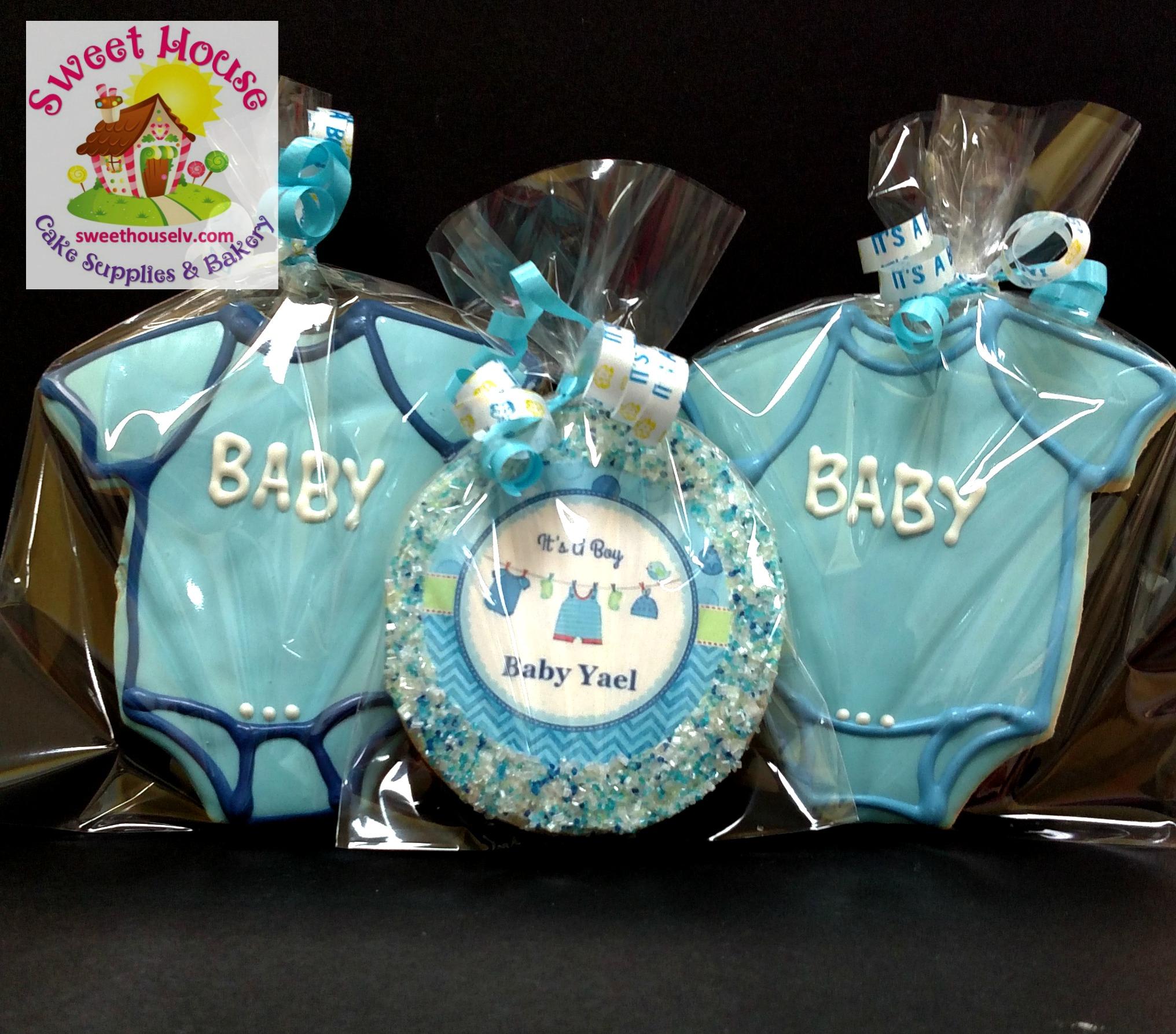 Blue Onesie Cookies