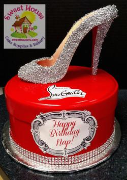 Louboutin Shoe & Box Cake