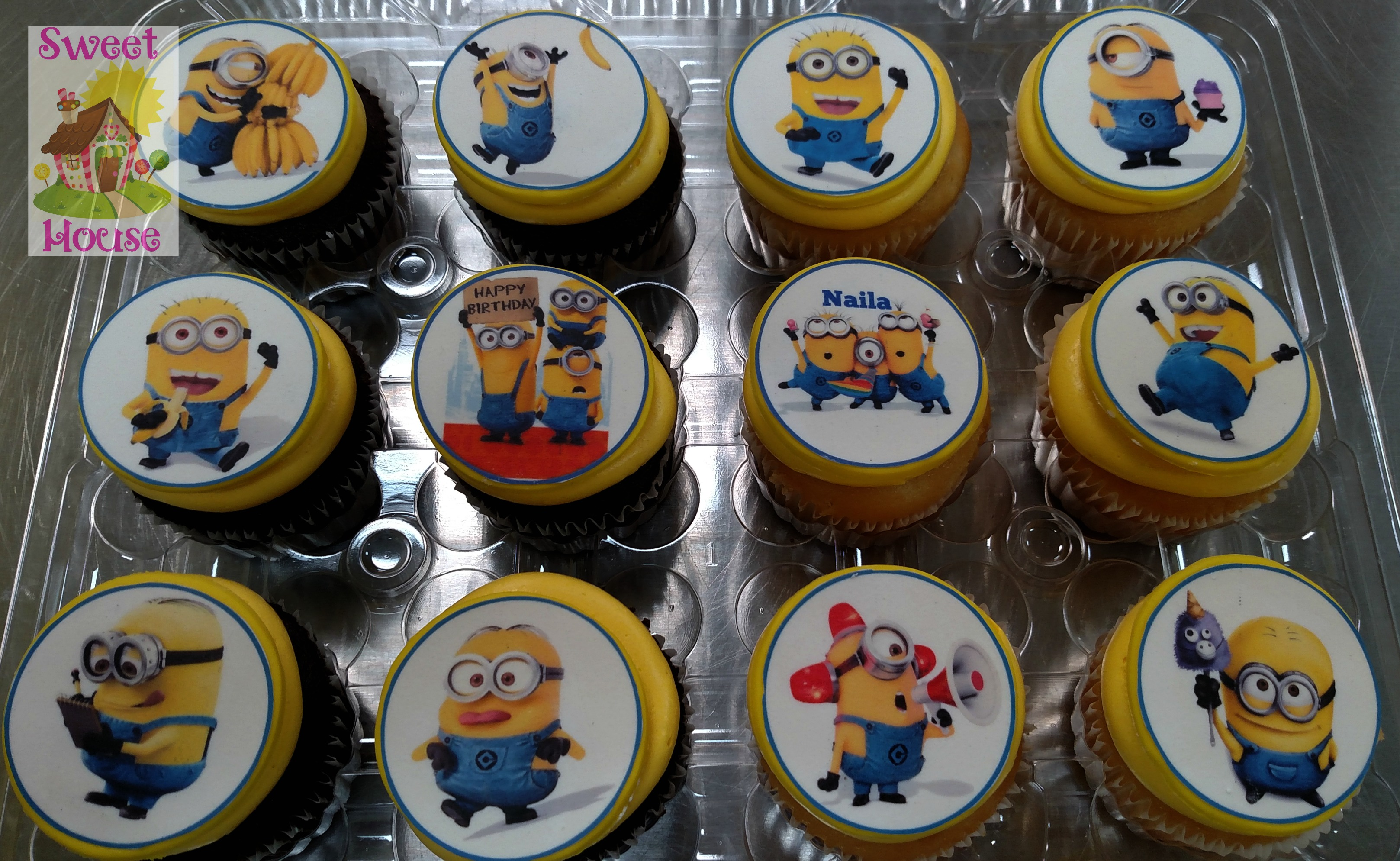 Minion Cupcakes with Edible Images