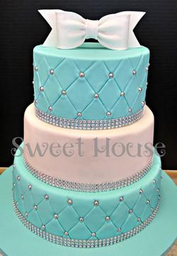Round Tiffany Inspired Cake