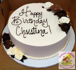 Birthday Cake w/ Chocolate Roses
