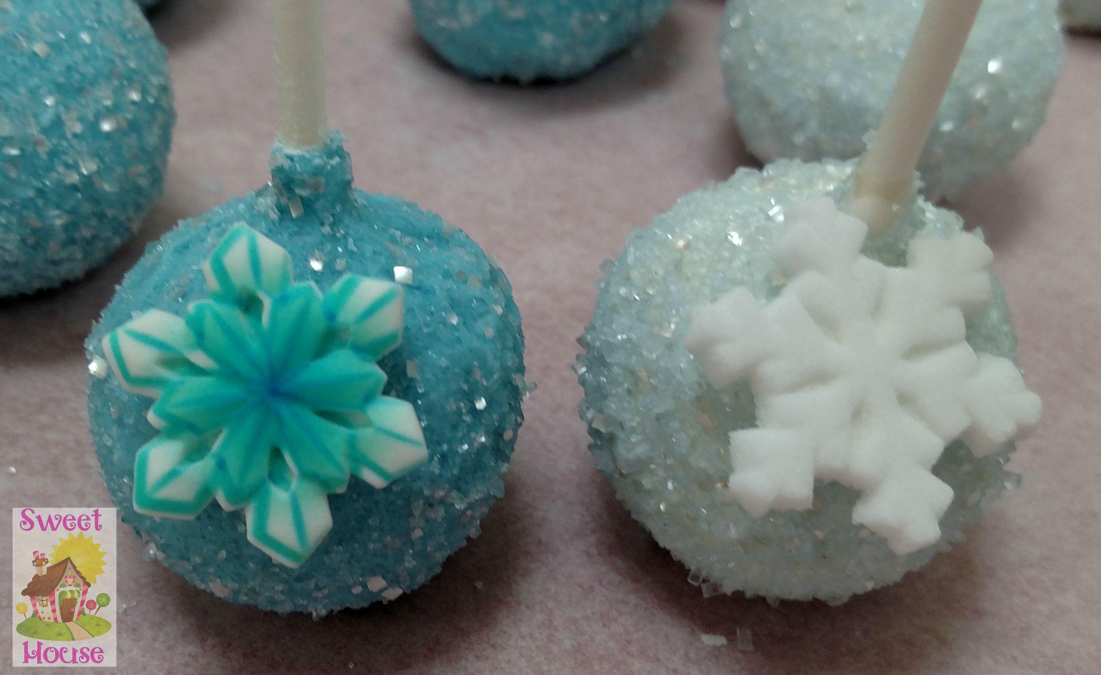 Frozen inspired cake pops