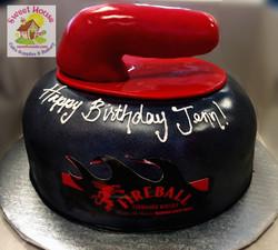 Curling Stone Cake