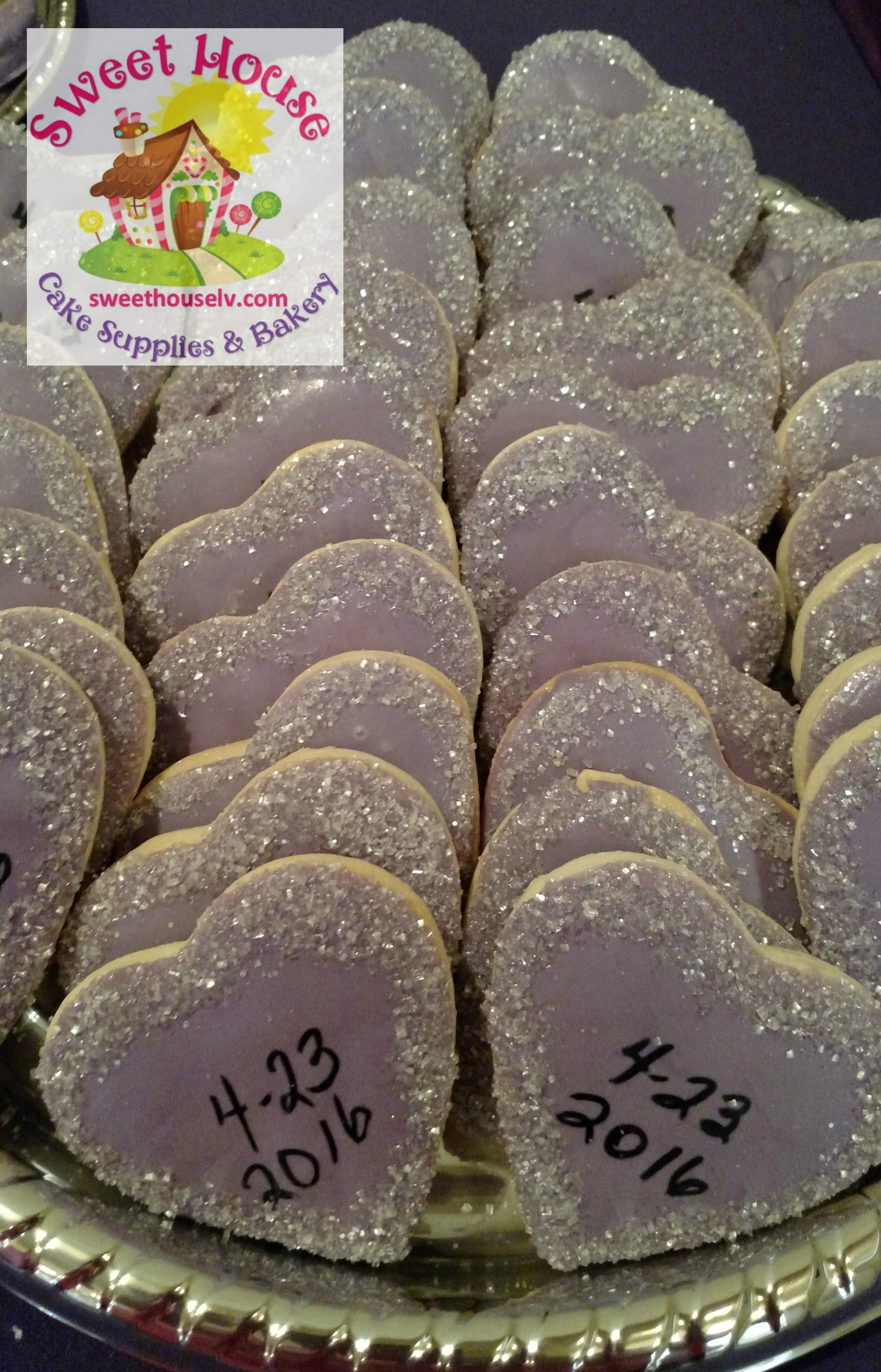 Heart Wedding Cookies with Date