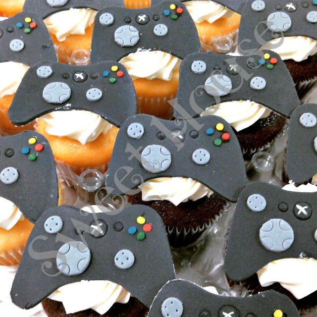 Video Game Controller Cupcakes