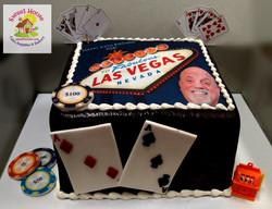 Vegas Birthday Cake