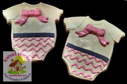 Pink & Grey Onesie Cookies