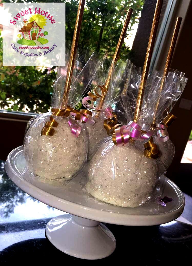 White Chocolate Dipped Apples
