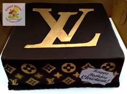 LV Logo Cake WM