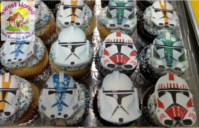 Clone Trooper Cupcakes