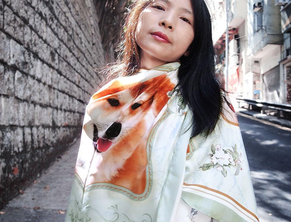 寵物圖案圍巾披肩 (預購)