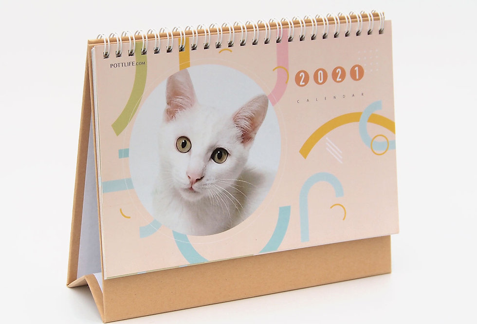 2021年月曆 - 鐵圈 (8寸)貓