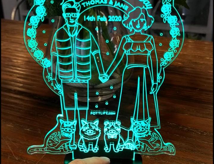 LED客制化創意檯燈 (半訂制)