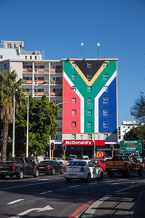 building-south-african-flag-painted-long