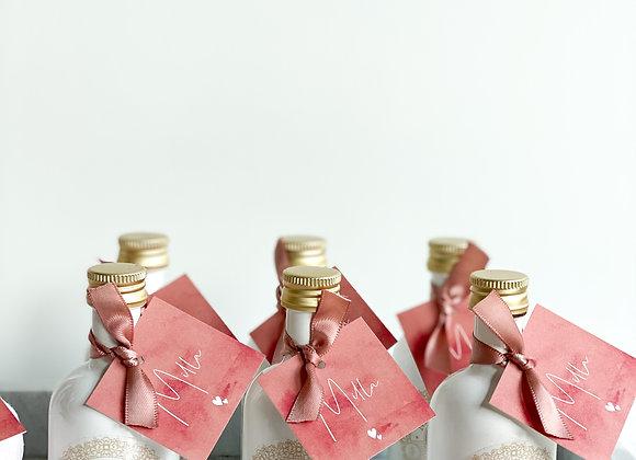 Mini flesje gin - Miss Groni (set 20stuks)