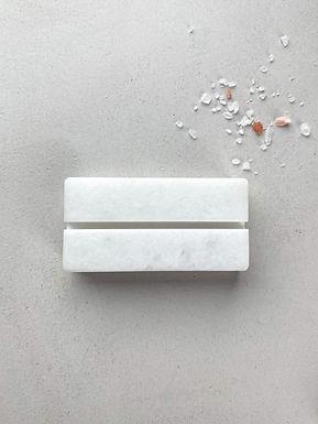 Marmeren kaarthouder - wit