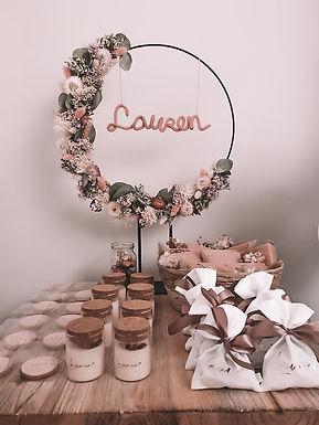 Flowerhoop met punieken naam