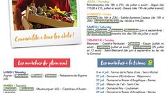 Le flyer des Marchés dans le Gers 2021 est disponible  !