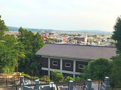 寶藏院墓地からの眺望