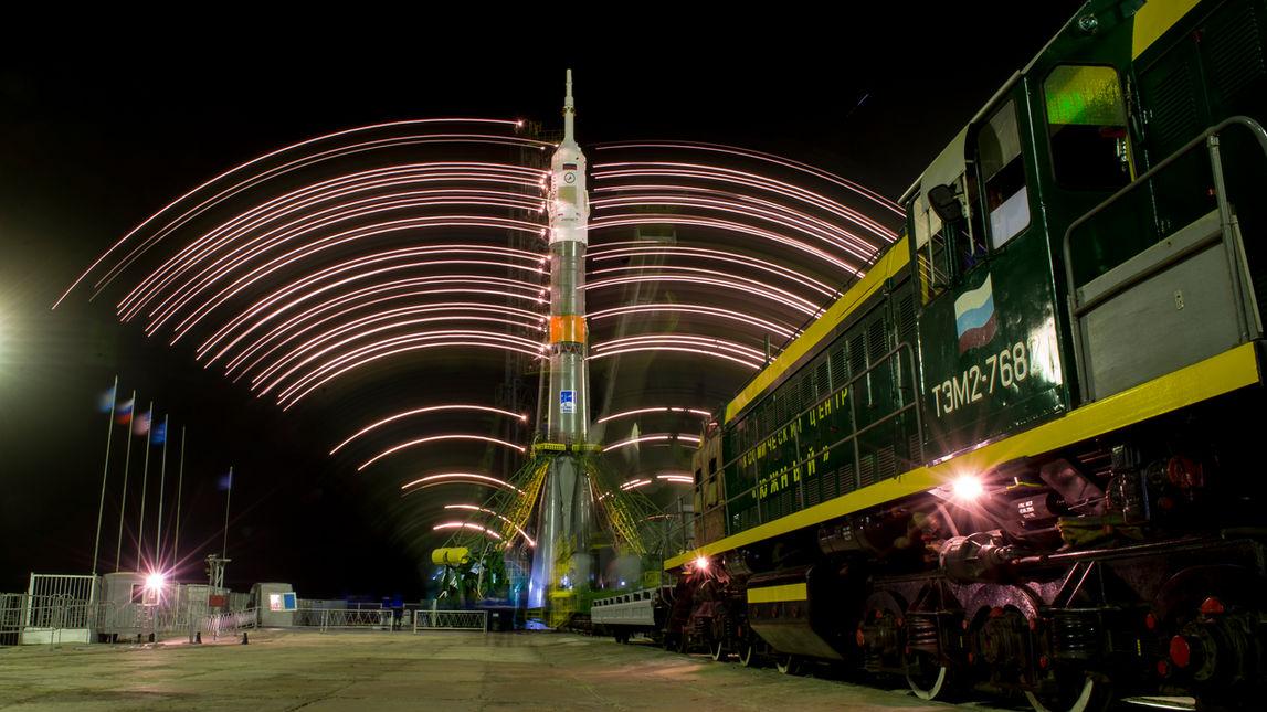 Soyuz on the pad