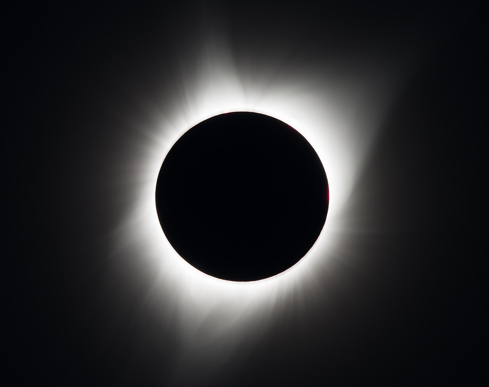 A total solar eclipse is seen on Monday, August 21, 2017 above Madras, Oregon.
