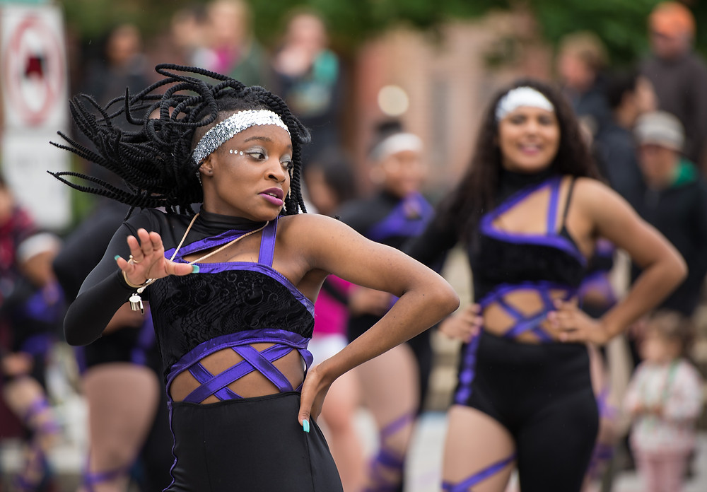 Dancers march in the DC Funk Parade, Saturday, May 6, 2017 in Washington DC.