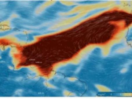 Nube de dióxido de azufre ingresa a Colombia