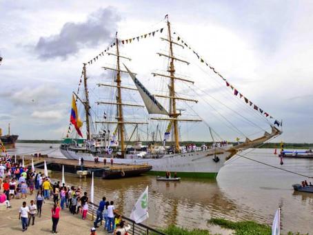Regresa el buque Gloria al Gran Camellón del río Magdalena