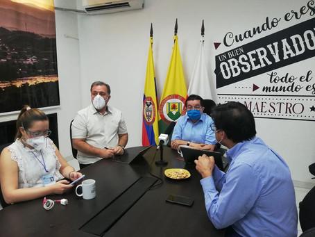 Ministro de Salud visitó la Dorada para analizar situación COVID-19