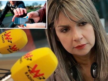INSÓLITO!  EL LADRÓN DE CELULARES QUE SORPRENDE A VICKY DAVILA CON LLAMADA AL AIRE EN LA W RADIO.