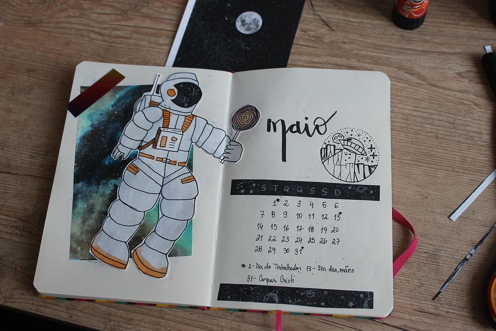 página de um bullet journal
