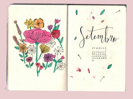 Tema para bullet journal: Primavera e flores