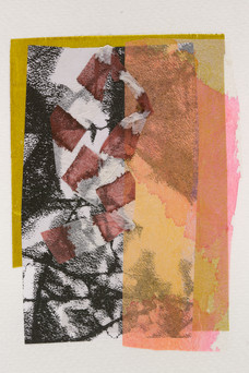 Acrylic collage, 100 x 148mm