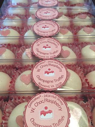 White Chocolate Raspberry Champagne Truffles (4ct)
