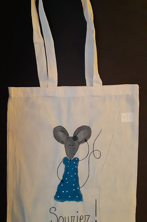 Totebag adulte - Souris bleue