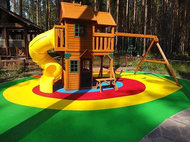 Мягкое покрытие для детской площадки