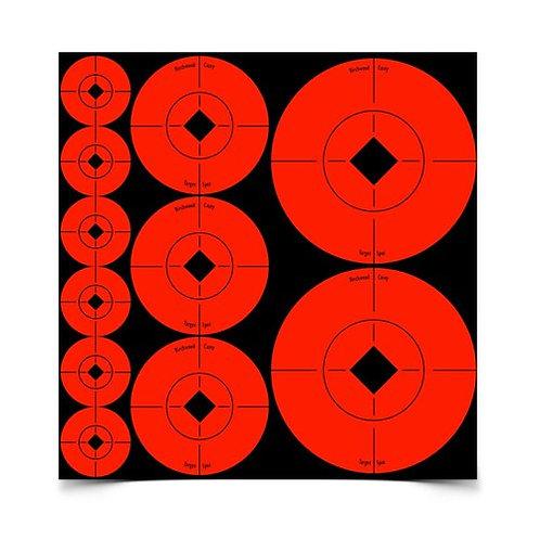 Target Spots® Assorted Size Orange Targets