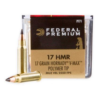 Federal 17HMR V Max Polymer Tip 2550fps