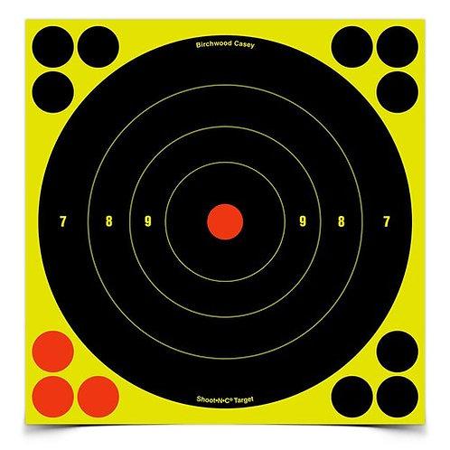 Shoot•N•C® 8 Inch Bull's-Eye, 30 Targets - 360 Pasters